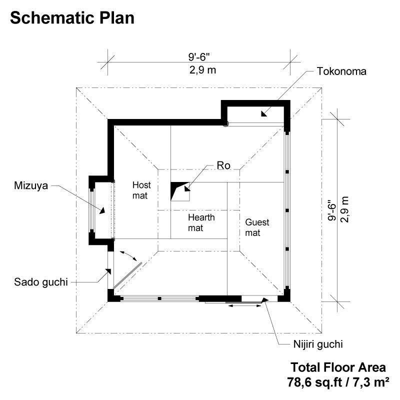 tea house floor plans JJJ Pinterest – Japanese Tea House Building Plans