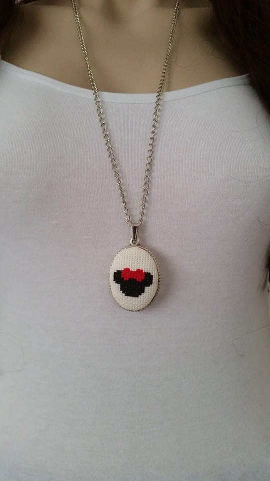 Cross Stitch Necklace Cross Stitch Jewelry Valentine S Day Gift
