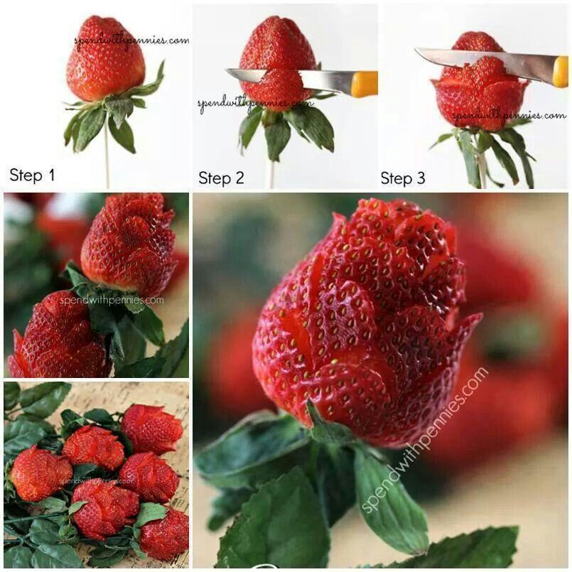 D coupe en forme de rose foods healthy pinterest for Decoupe fruit decoration