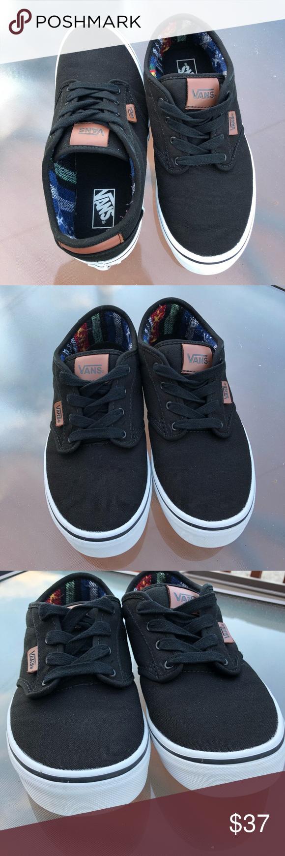 b071b88ac17 VANS Classic Skate Shoe Canvas Leather Trim TB4R VANS Classic Canvas Skate  Shoe Color  Black