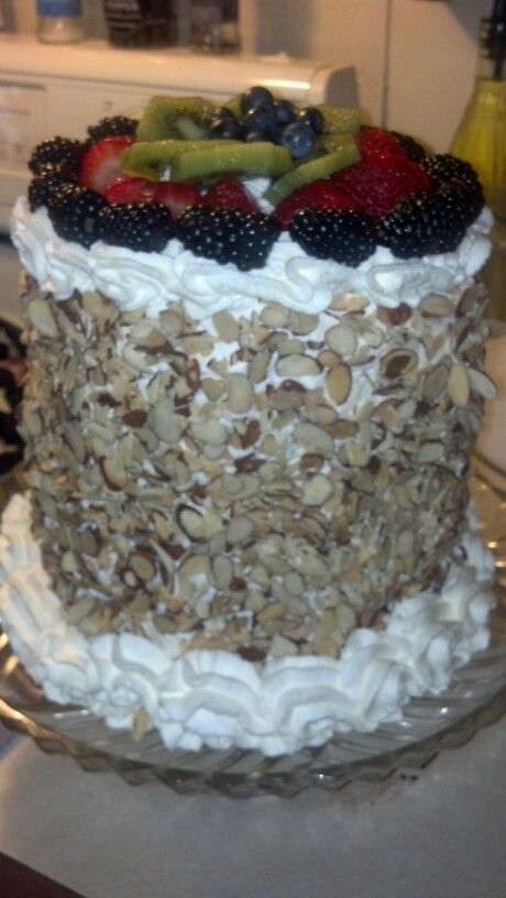 Watermelon Cake Watermelon With Fresh Whipped Cream And
