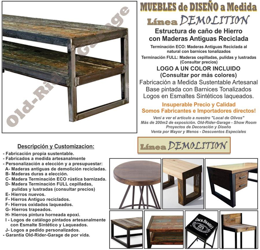 Old muebles industriales y deco vintage for Muebles industriales vintage