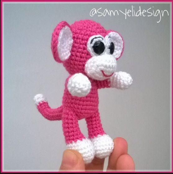Maymun Anahtarlık Tarifi / Monkey Keychain Free Pattern