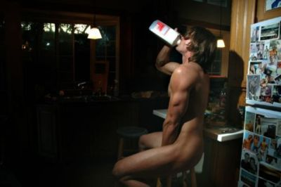 Jared's naked milk pic. Now it's Jenson's turn.
