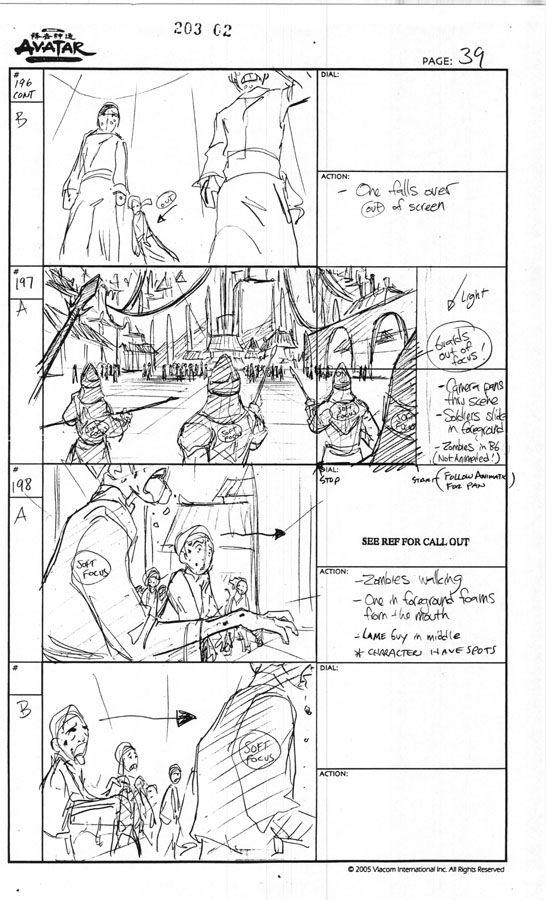 Avatar Storyboard ep203 p02 by justinridge on DeviantArt - script storyboard