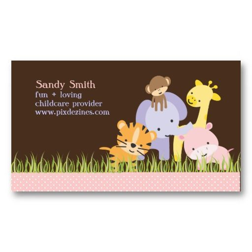 Pixdezines Jungle Of Fun Daycare Business Card Zazzle Com In 2021 Starting A Daycare Childcare Provider Daycare