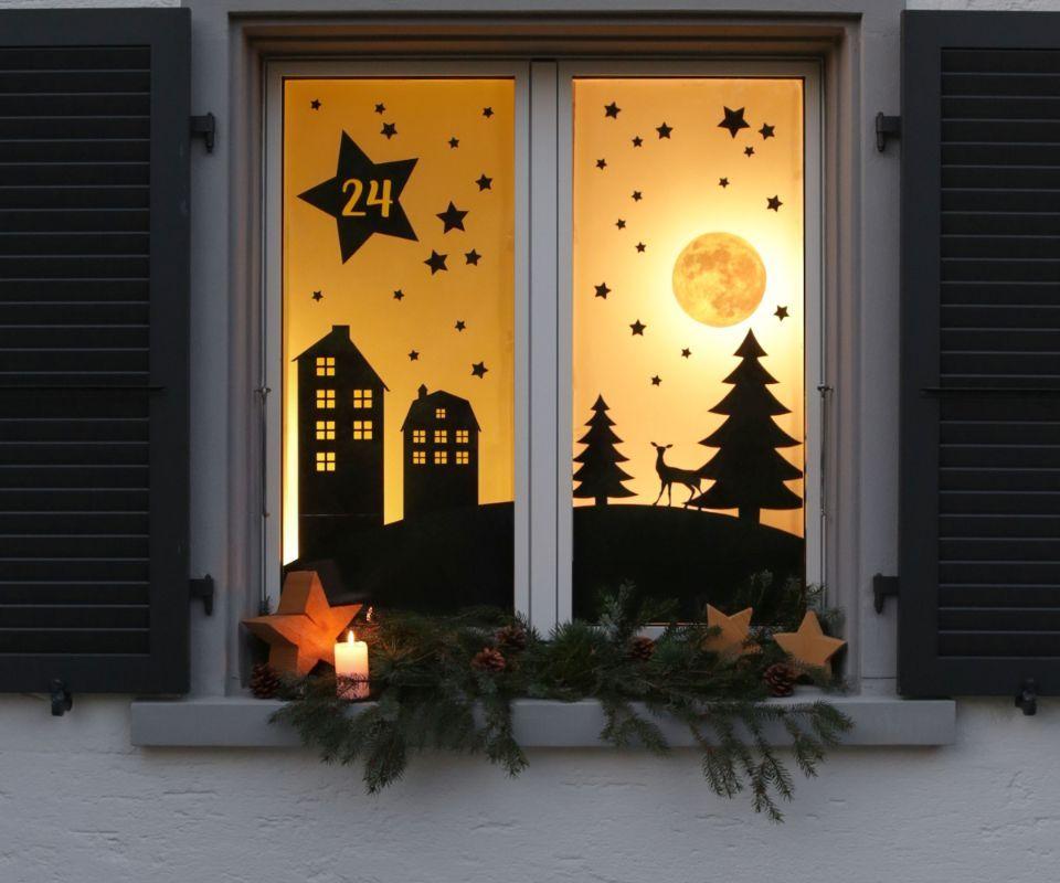 Festliches Adventsfenster