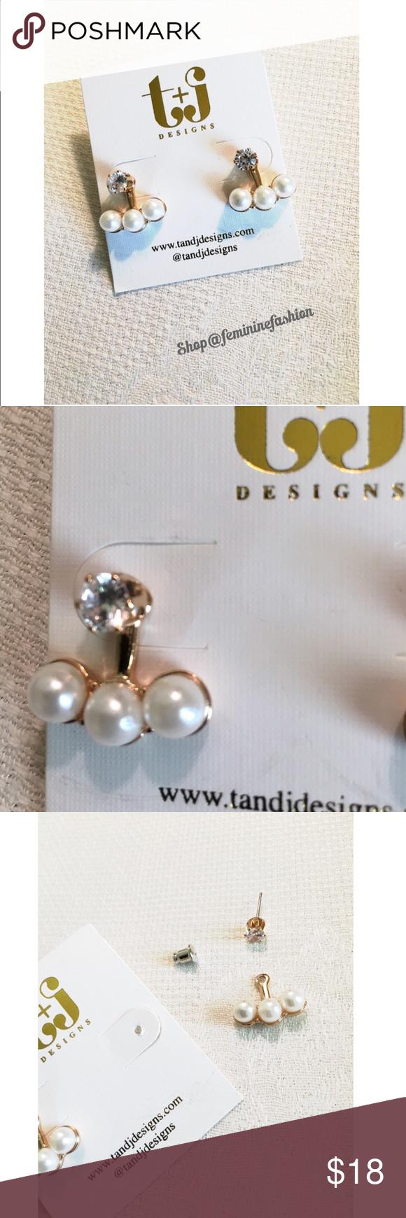 Pearl crystal stud chandelier earrings faux pearl with crystal pearl crystal stud chandelier earrings faux pearl with crystal studs earrings can be worn with arubaitofo Gallery