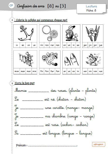 Suite Confusions Des Sons Methode De Lecture Orthographe Ce1 Exercice Ce1