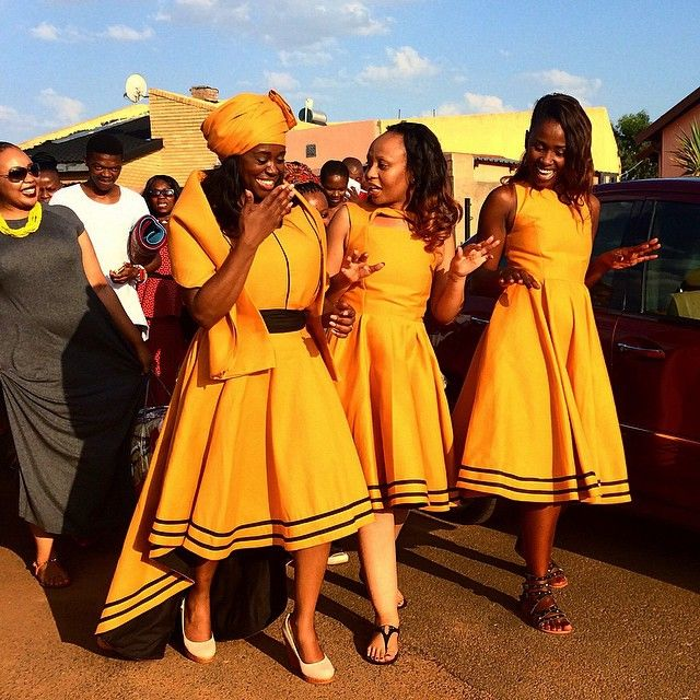 """""""Bride Gabisile Mathebula (left) and her bridal party dance on their way to present gifts to her new husband Thamsanqa Mbondane during their traditional wedding in Spruitview township, Johannesburg."""" Pic by @jamesoatway"""