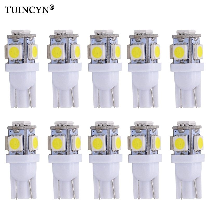 Universe Of Goods Buy Tuincyn 10pcs Led Car Lampada Light T10 Super White 194 168 W5w T10 Led Parking Bulb Auto Wedge Clearance Lamp Dc 12v Red Orange For O