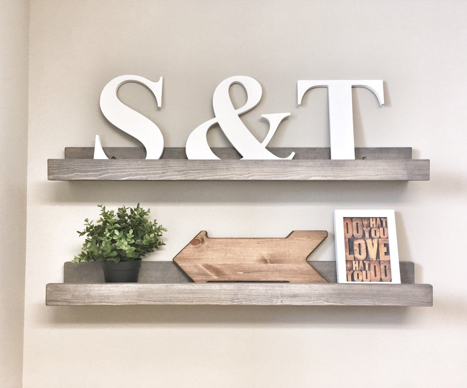 Set Of 2 Wood Wall Floating Shelves For Gallery Wall Farmhouse Picture Ledge Shelves To Display Decor And Photos Wall Hanging Book Shelf Picture Ledge Shelf Floating Shelves Floating Shelf Decor