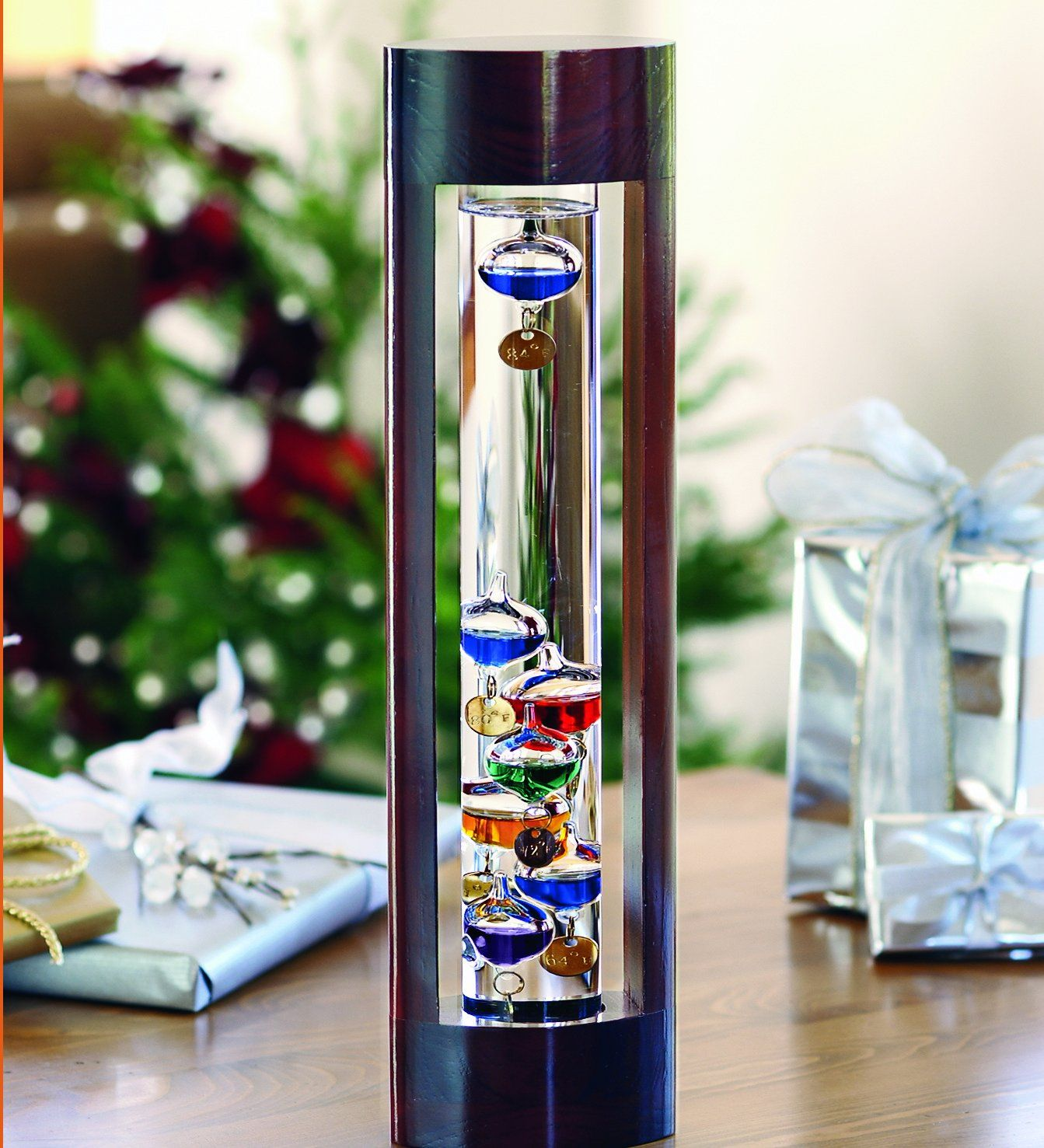 Amazon.com : Wind & Weather Galileo Thermometer with Cherry Finish ...