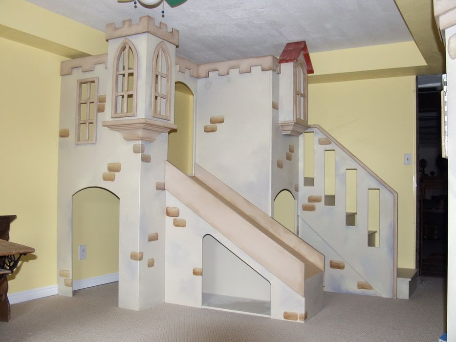 Perceval\'s Indoor Playhouse | Indoor playhouse, Castle playhouse ...