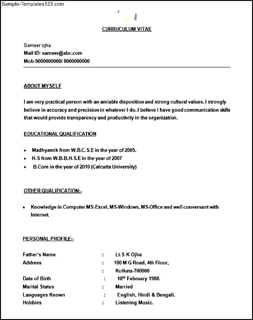 Simple BPO Call Centre Resume Template http://www.sample ...