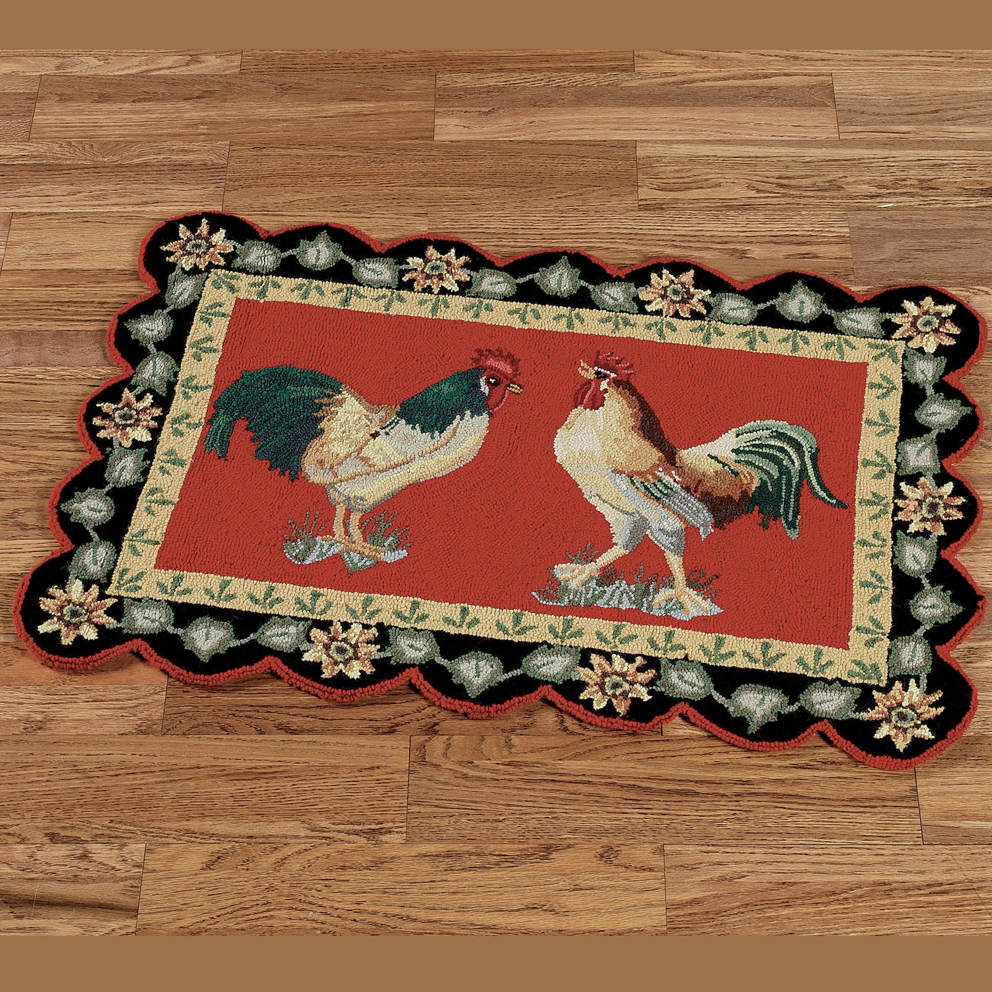 barnyard rooster rugs kitchens rh pinterest com Rooster Throw Rugs Rooster Rugs Walmart