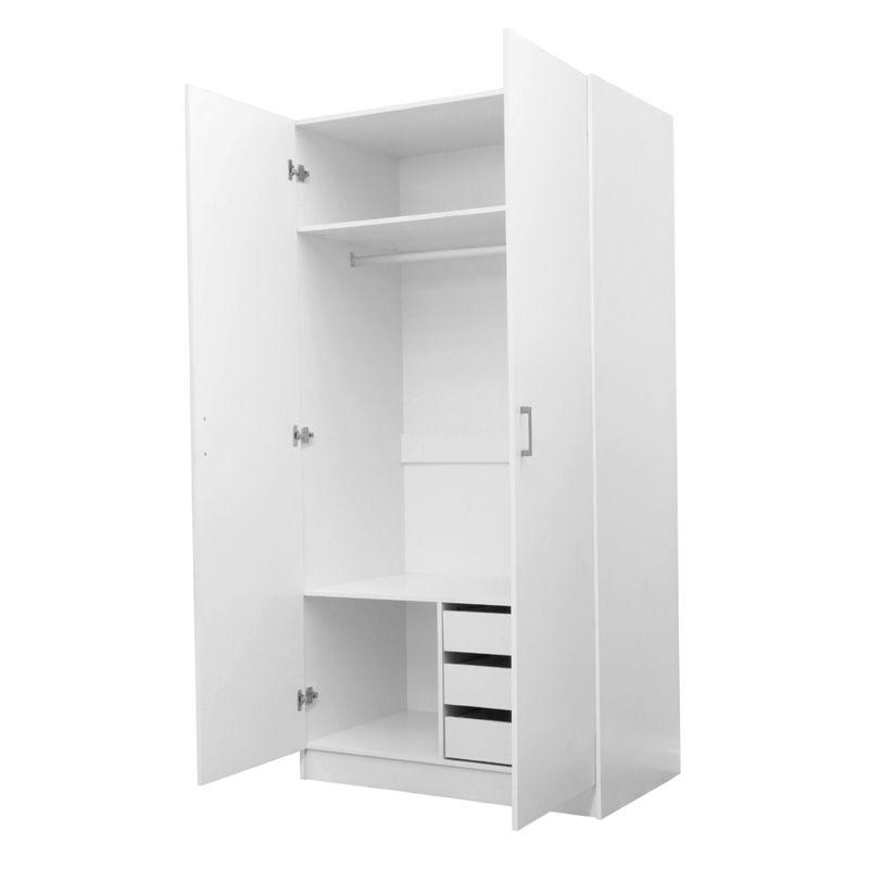 Montgomery 2000 X 1000 X 600mm 2 Door 3 Internal Drawer Wardrobe Locker Storage Storage Drawers
