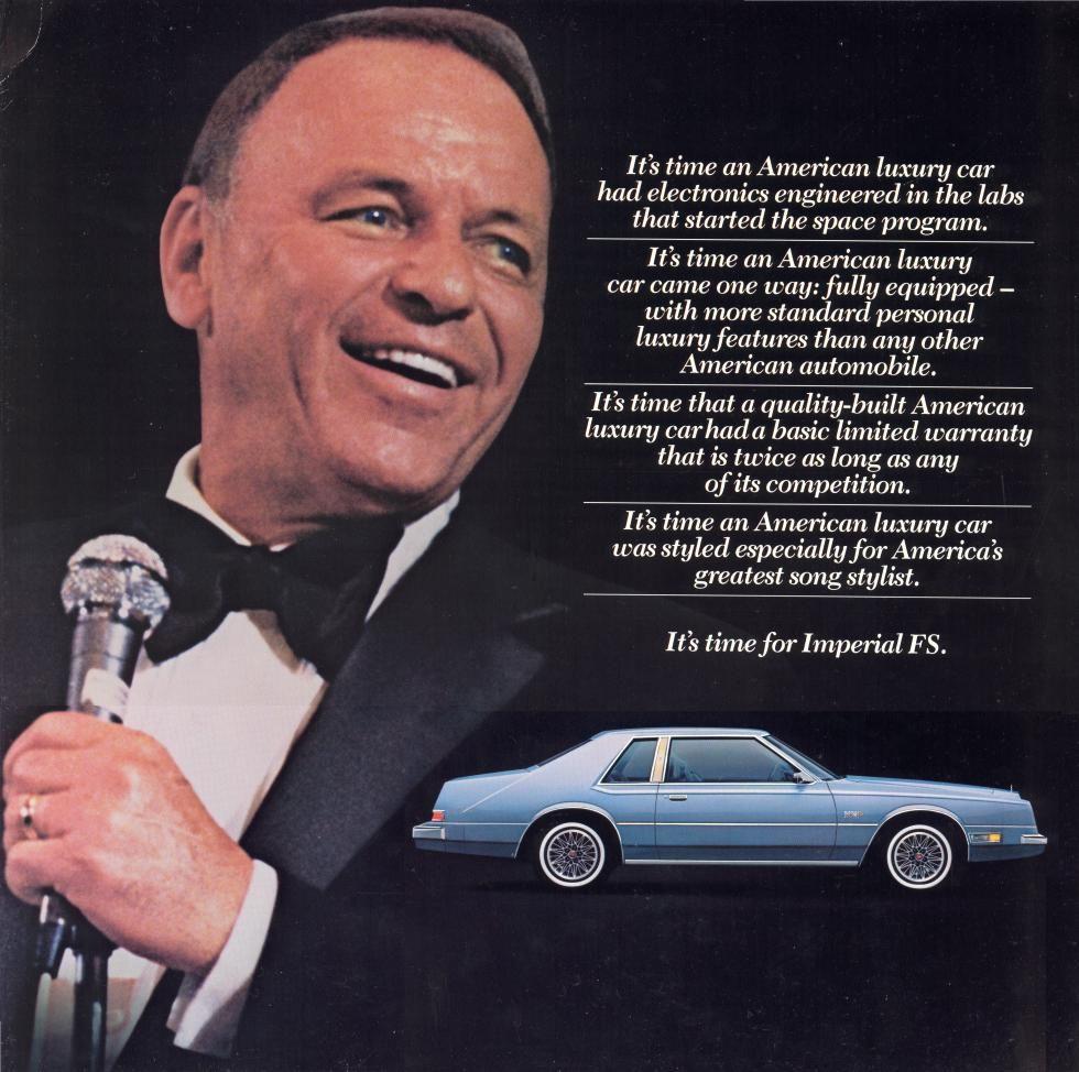 1981 ImperialSinatra01 Sinatra, Frank sinatra, Chrysler