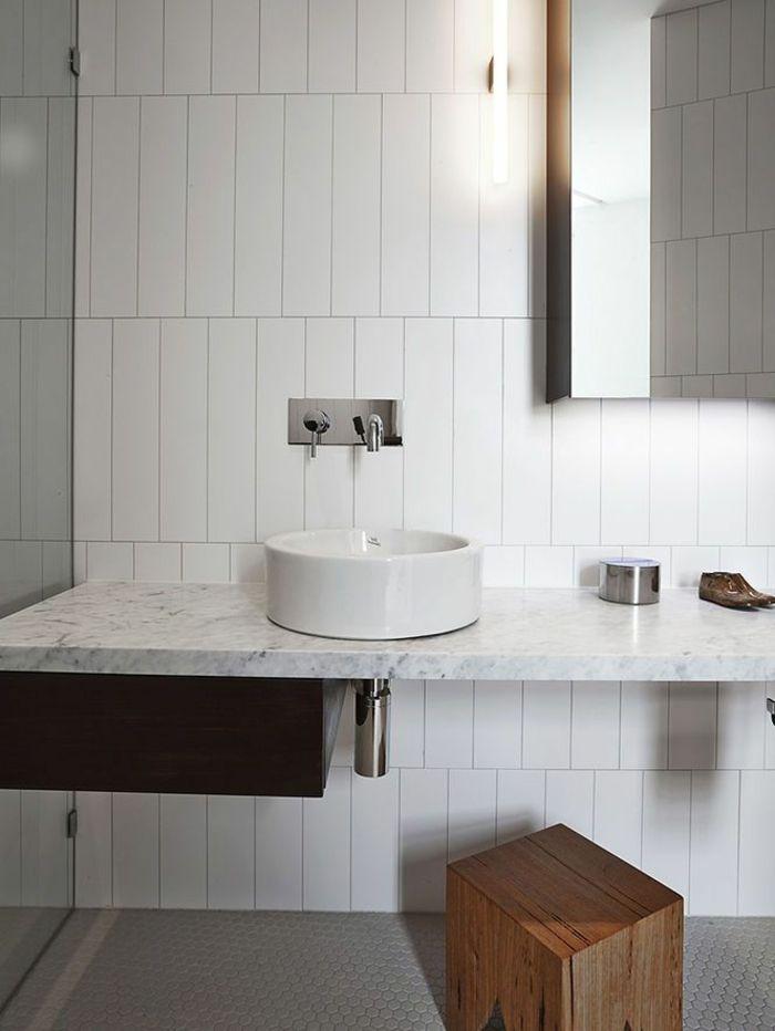 d corer la salle de bains avec un vier c ramique evier rond comptoirs en marbre et c ramique. Black Bedroom Furniture Sets. Home Design Ideas