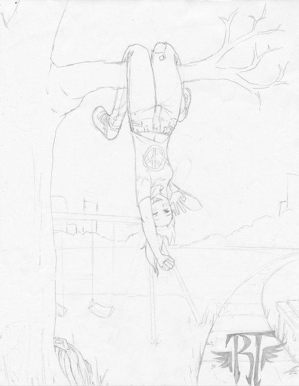 Manga Girl Upside Down By Https Www Deviantart Com Rachaelltroy On Deviantart Painting Of Girl Art Assignments Anime Poses Reference