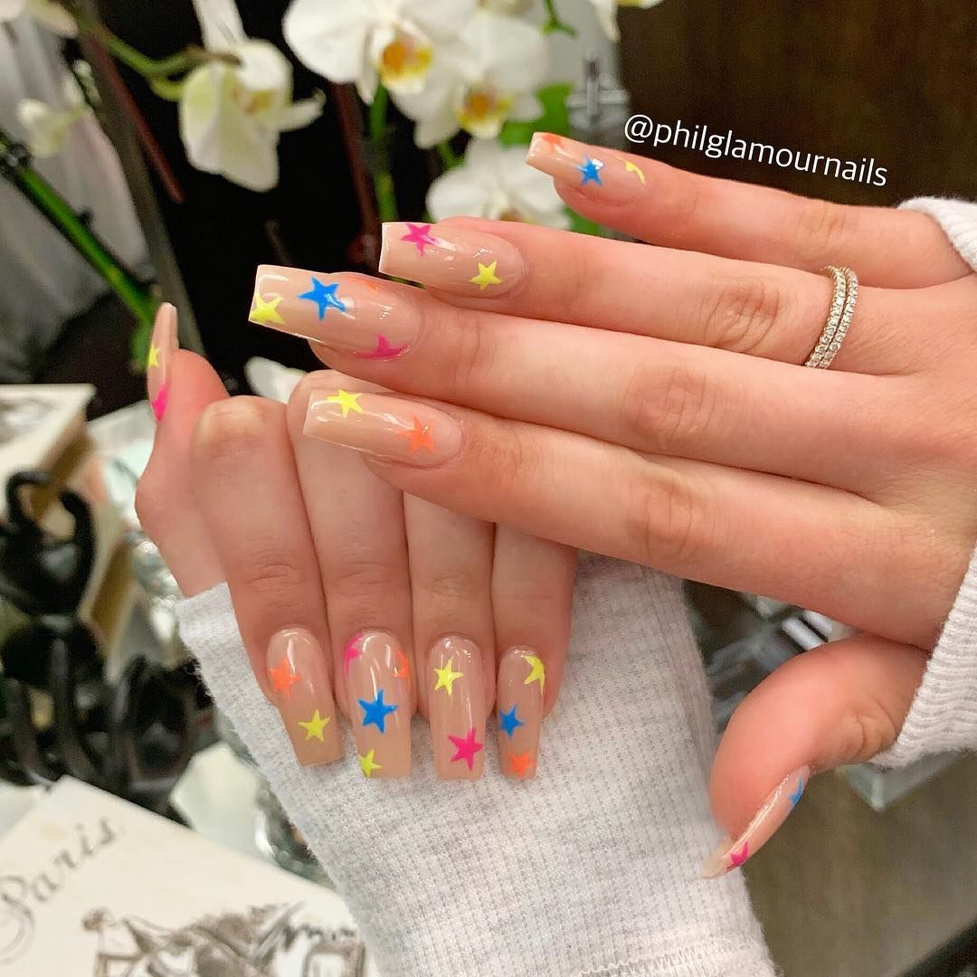 P H I L L I P On Instagram Birthday Nails For The Pretty Alyxbecker She Got What She Wanted Kyliejenn In 2020 Kylie Nails Fake Nails Long Acrylic Nails
