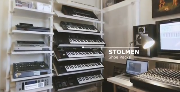 Ikea Hacks Stolmen For Synth Haus In 2019 Home Studio