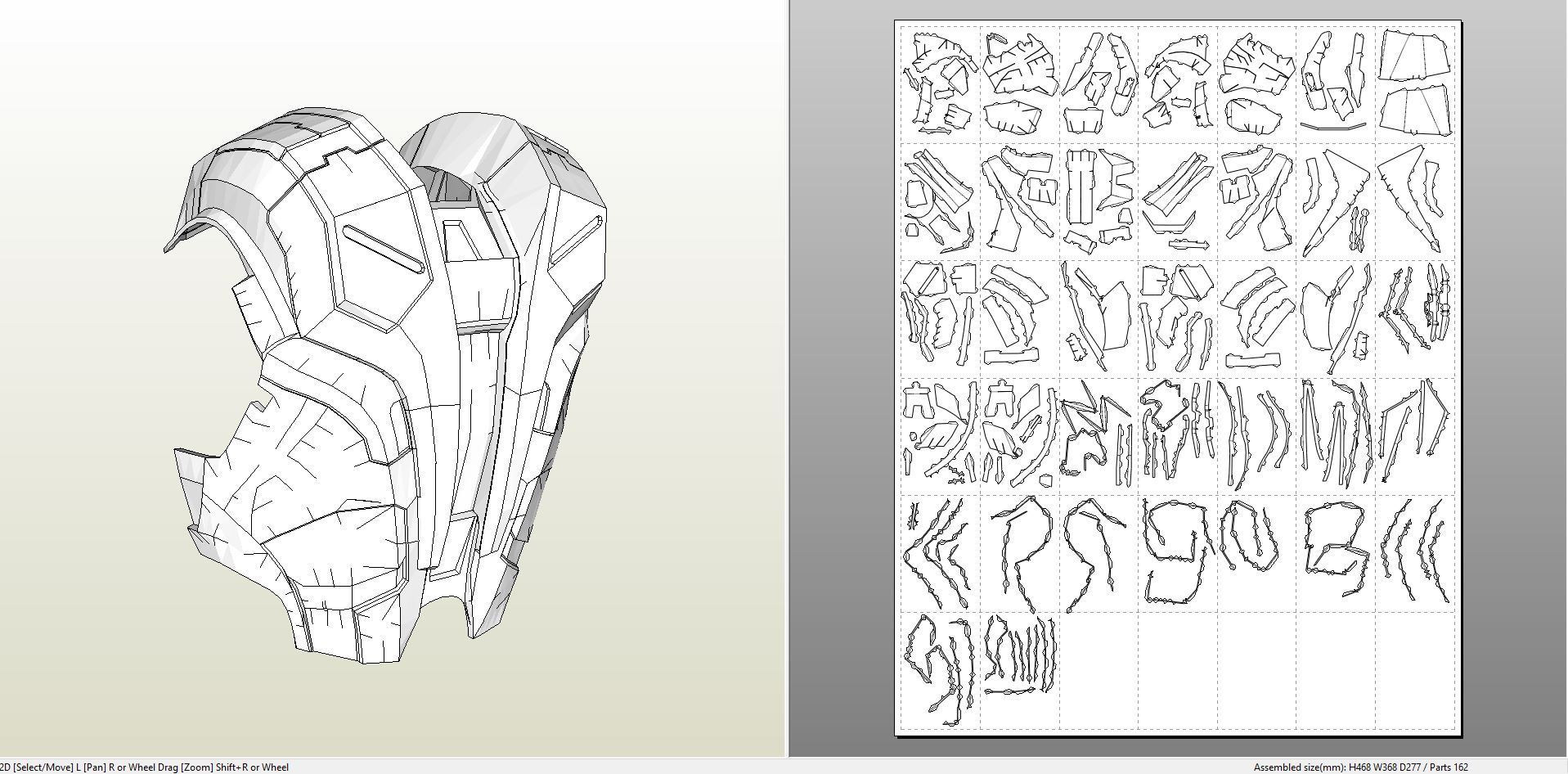papercraft pdo file template for iron man mk7 full
