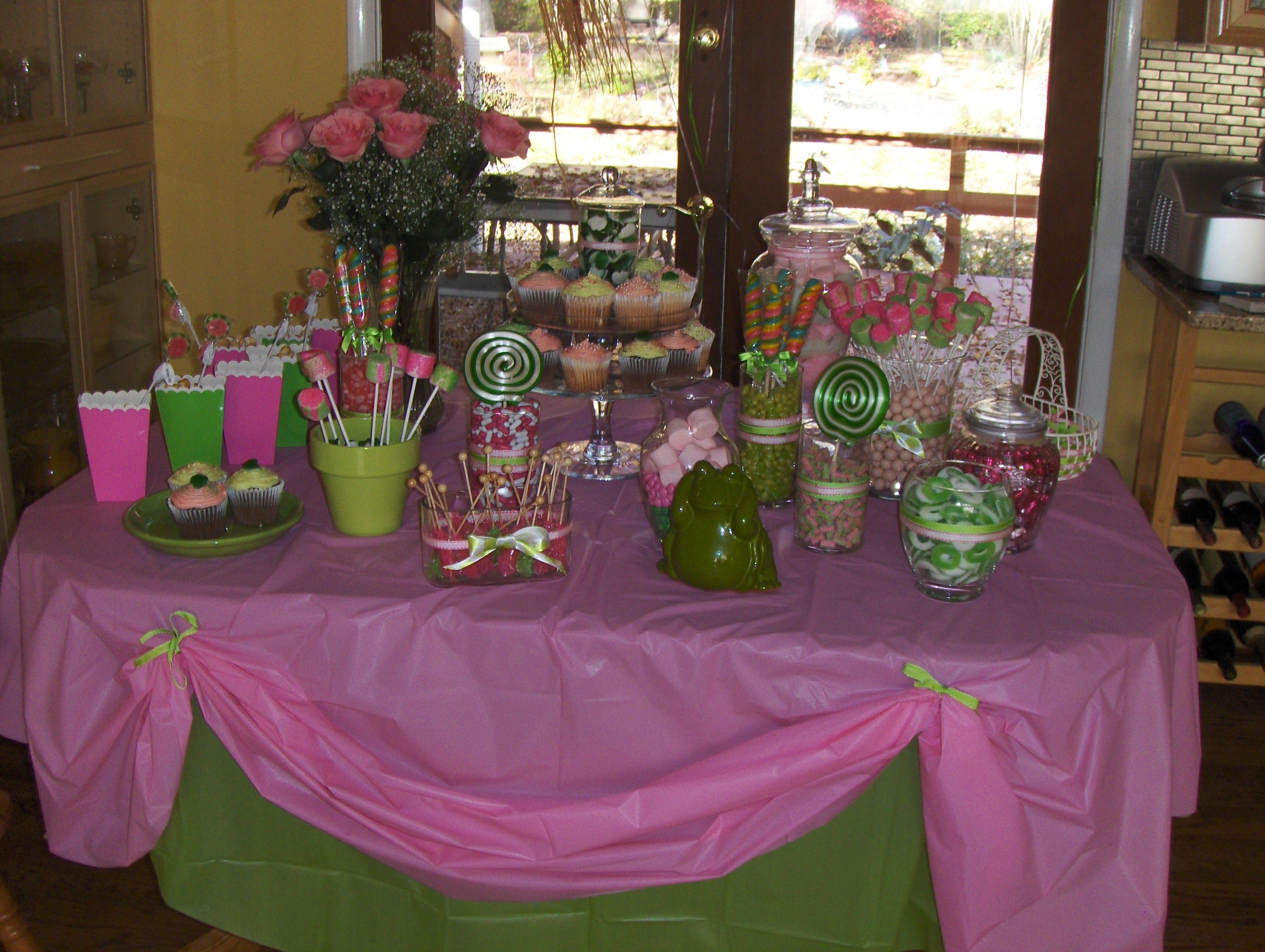 Candy Buffet For A Princess And The Frog Baby Shower