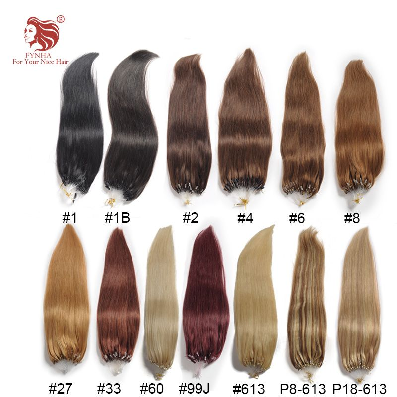Free Shipping 100gpac Silk Straight Micro Ring Hair Extensions