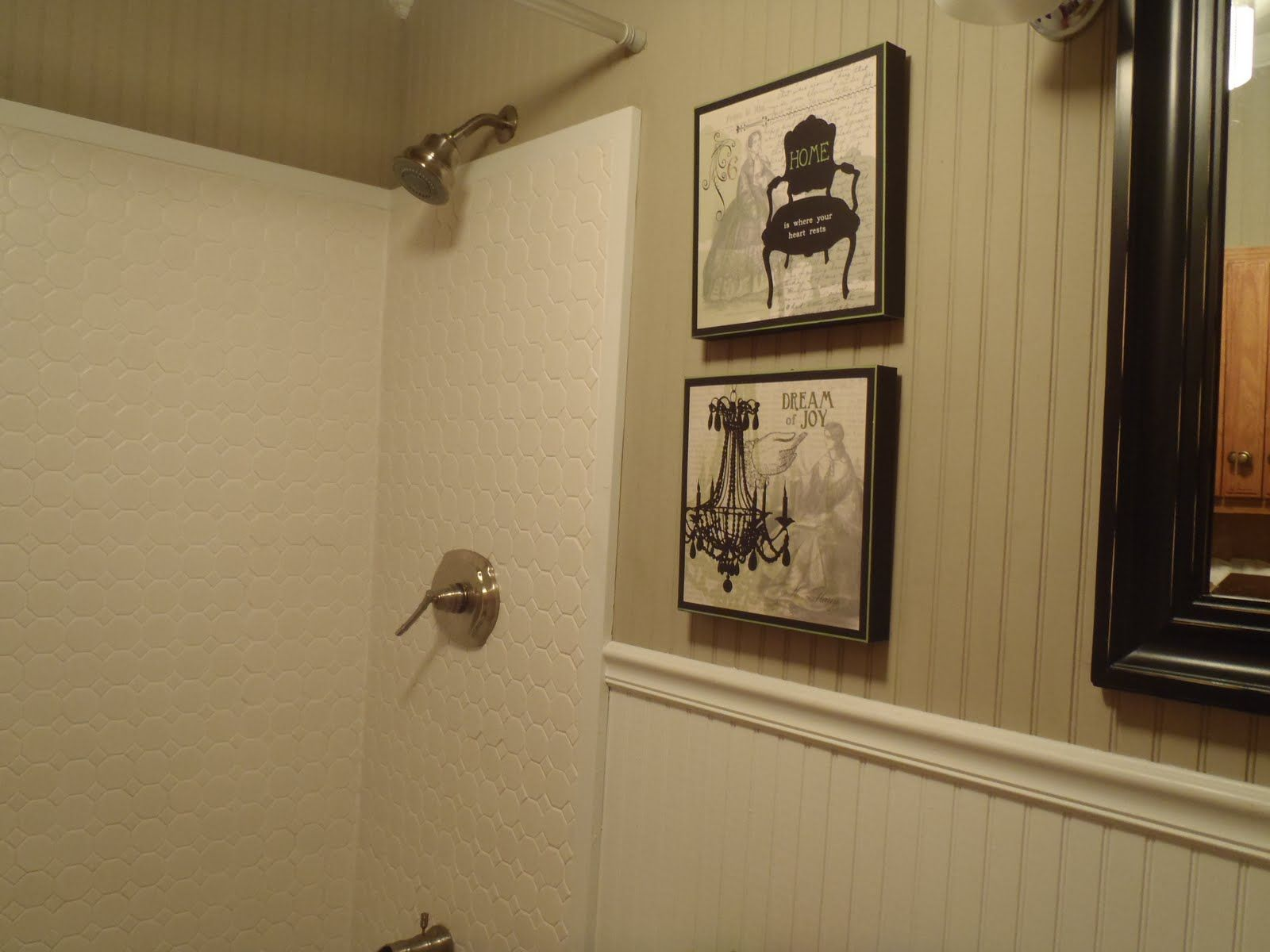Image Result For Wainscoting Around Surround Shower Bathroom Project Pinterest Wainscoting