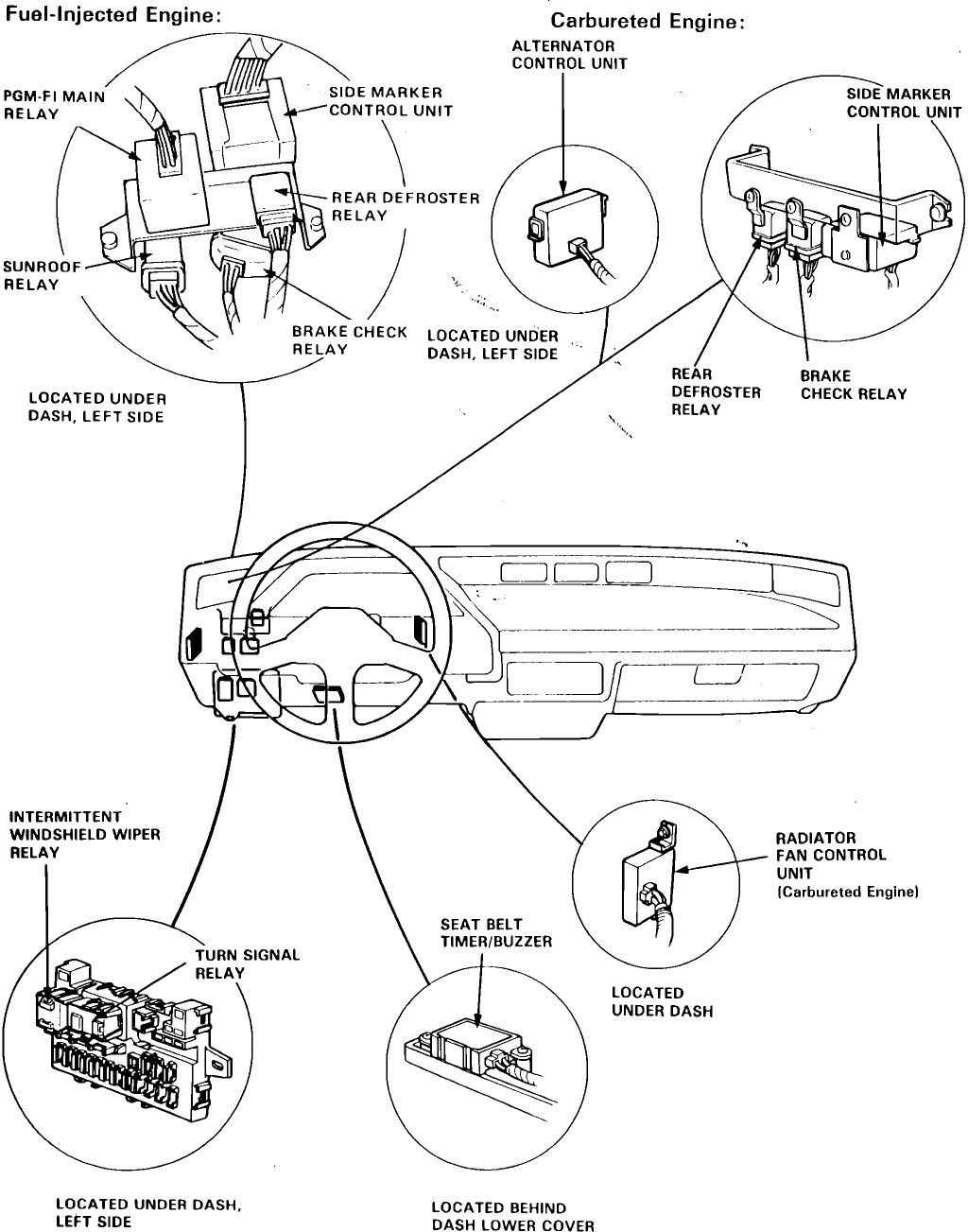Honda Main Relay Wiring Diagram With Images Patent Drawing