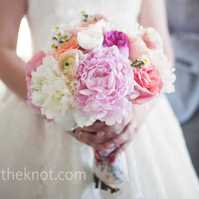 Pink & White Peony Bridal Bouquet