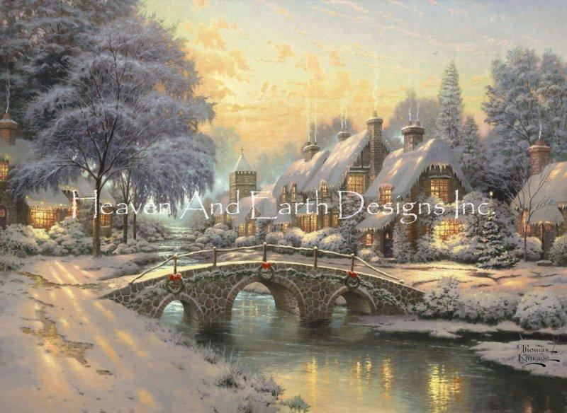 Photo of Cobblestone Christmas [KINKADE20190890] – $19.00USD : Heaven And Earth Designs…