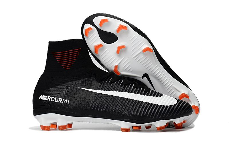 Nike Mercurial Superfly V FG Soccer Shoes White Red Black on