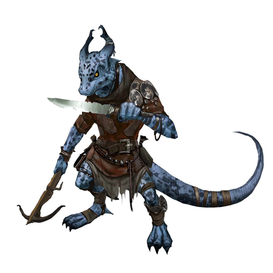 Male Blue Kobold Rogue Scout Pathfinder 2e Pfrpg Pfsrd Dnd D D 3 5 4e 5e 5th Ed D20 Fantasy Kobold D D Character Design Inspiration Fantasy Character Design