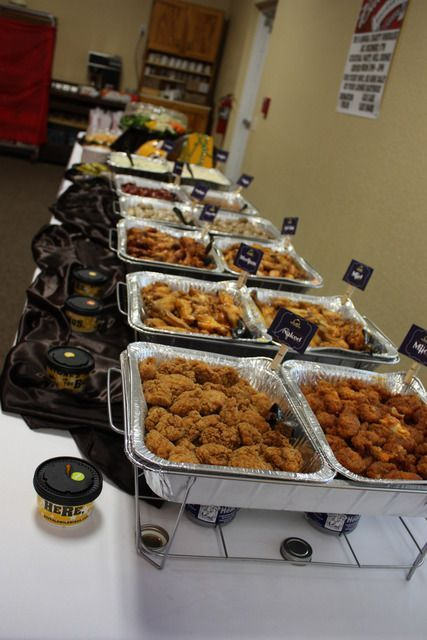 Football Wedding Party Ideas Potluck WeddingWedding Buffet FoodWedding