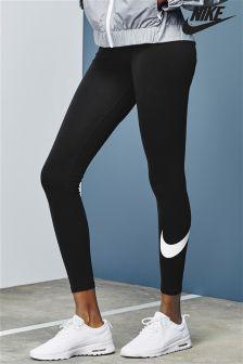 nike roshe run woven grey white detailed leggings