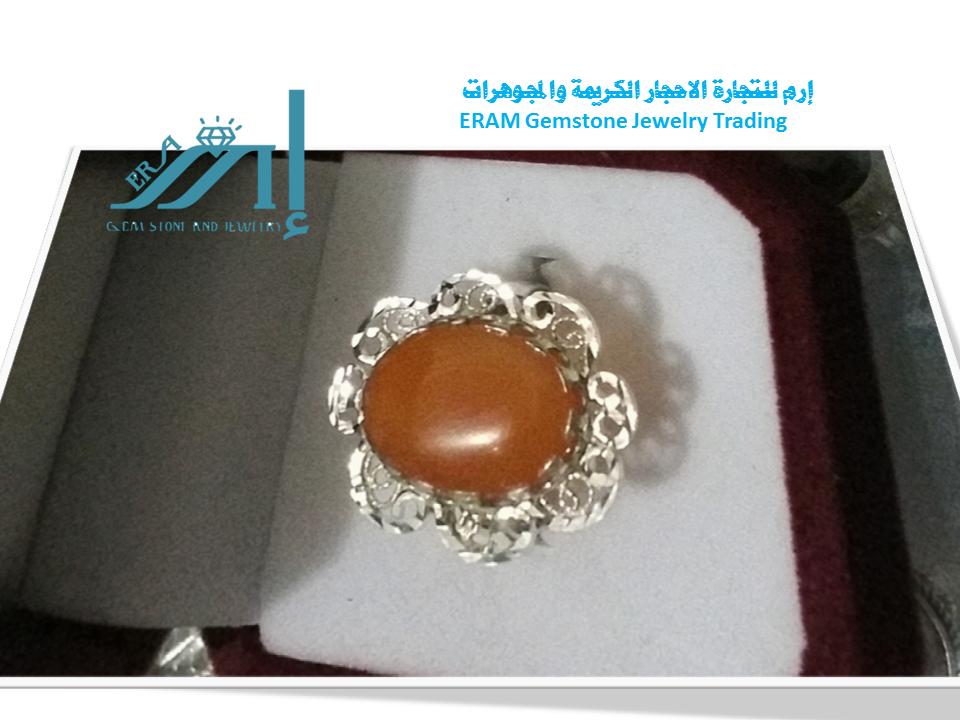 خواتم عقيق نسائي مشمشي طبيعي 100 Onyx Agate Gemstone Jewelry Gemstones Gemstone Rings