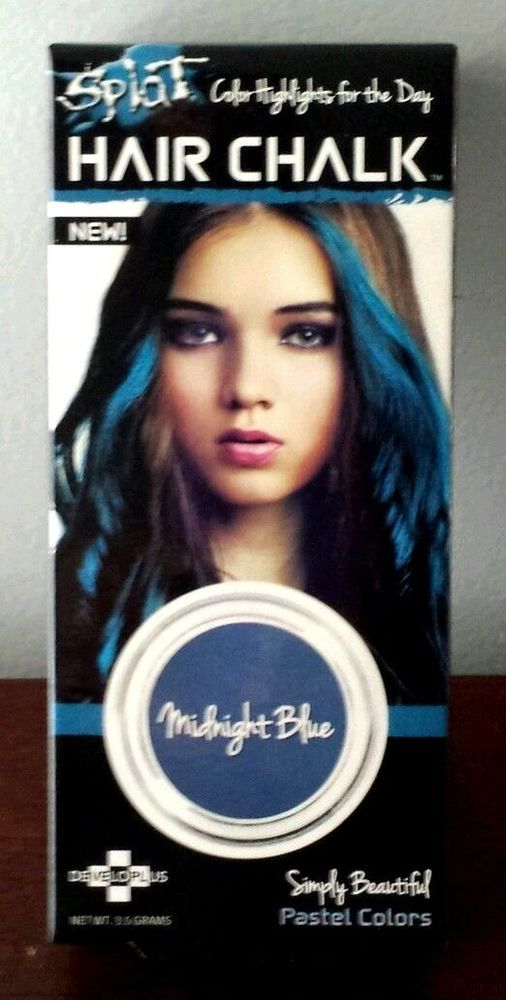 Splat Hair Chalk Pastel Colors Color Highlights Unisex Midnight Blue