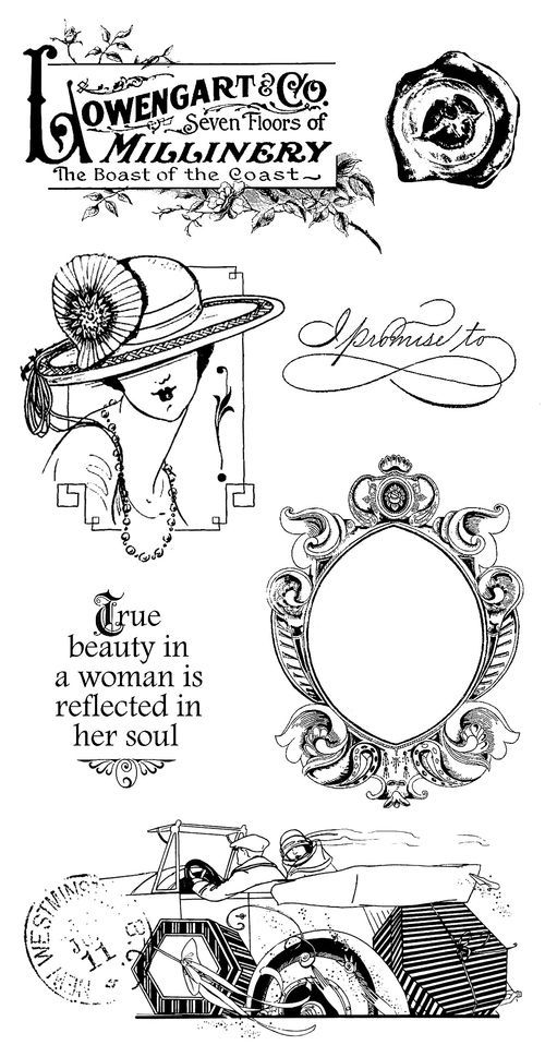 A Ladies' Diary Cling Stamps 3 from our new collection A Ladies' Diary! In stores in June! #graphic45