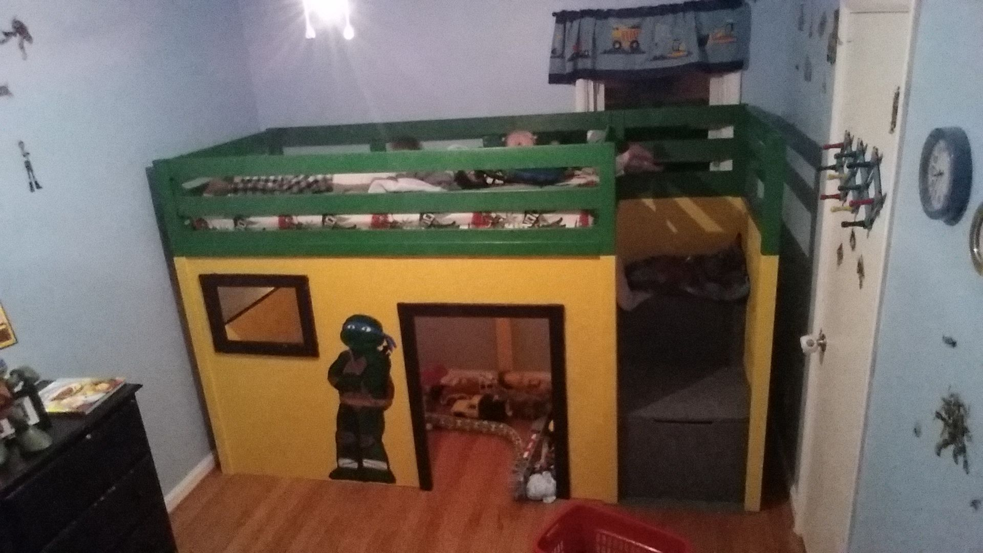 Ana white ninja turtle loft bed diy projects sons room