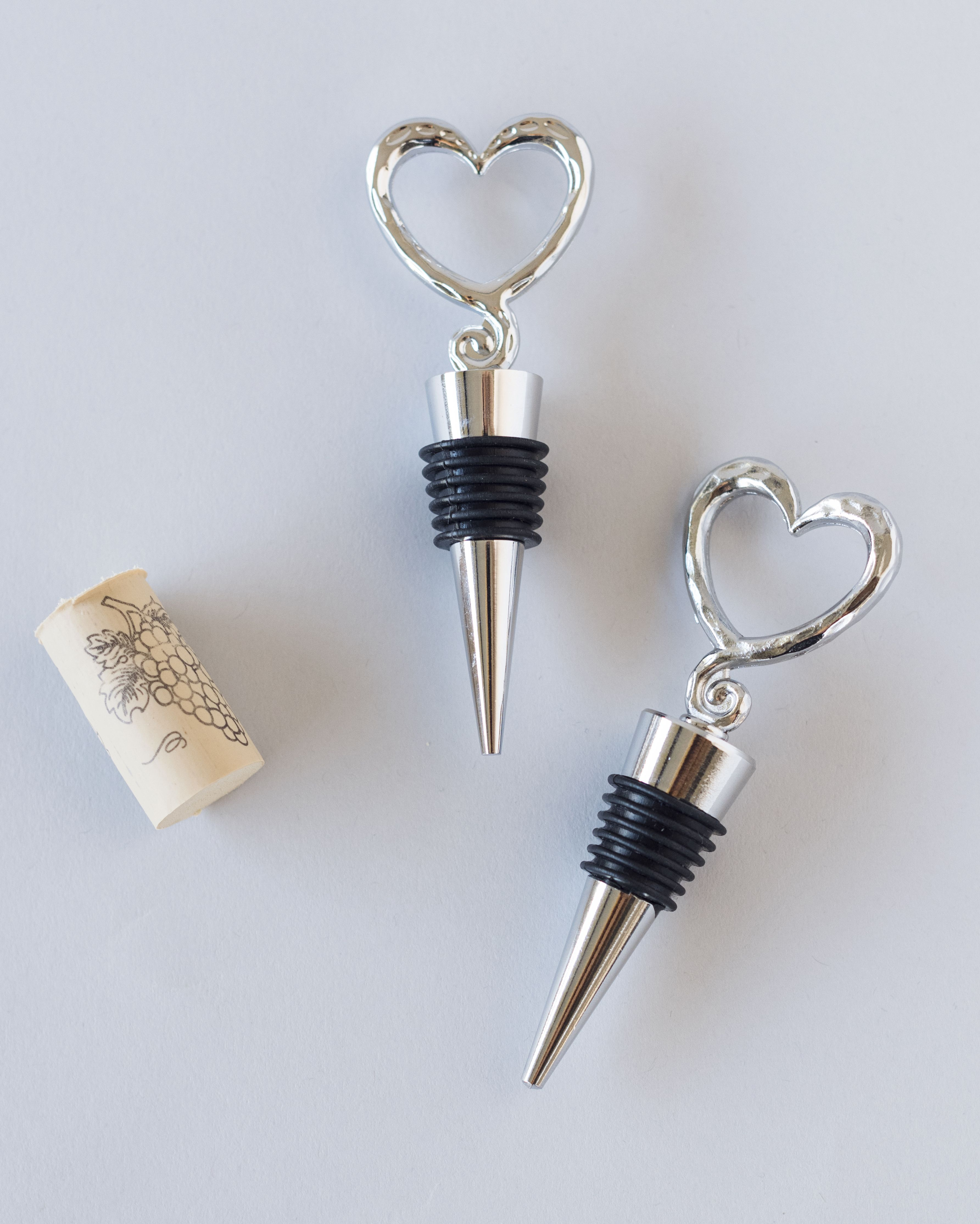 Open Heart Wine Bottle Stoppers | Bottle stoppers, Favors and Bridal ...