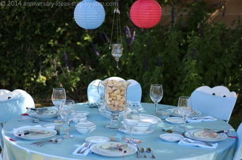 20th Wedding Anniversary Table Setting The China