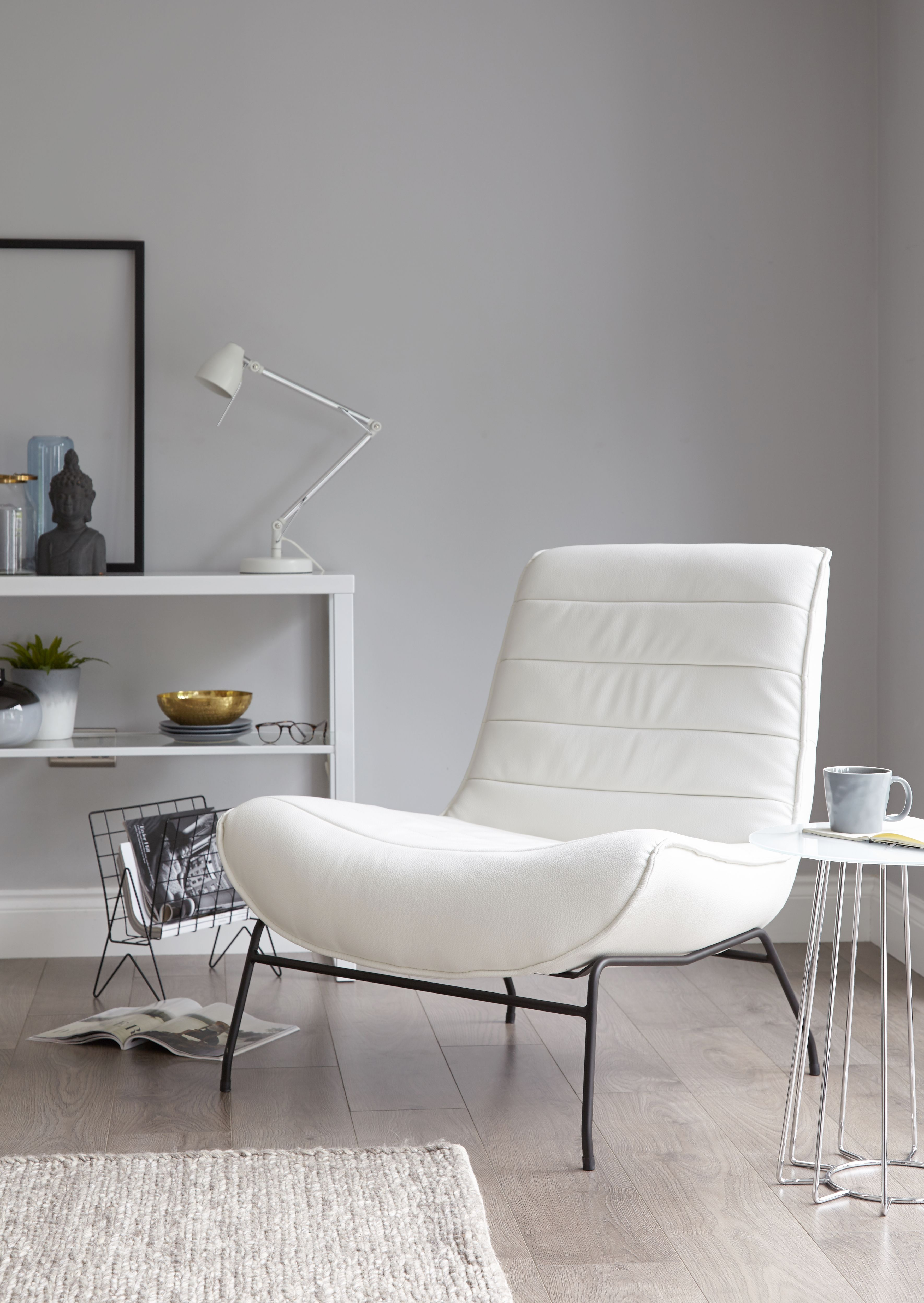 Contemporary White Leather Living Room Chairs Big Mirror Ideas For Drift Occasional Armchair Cosy Corners Pinterest Chair Modern Bedroom Dining