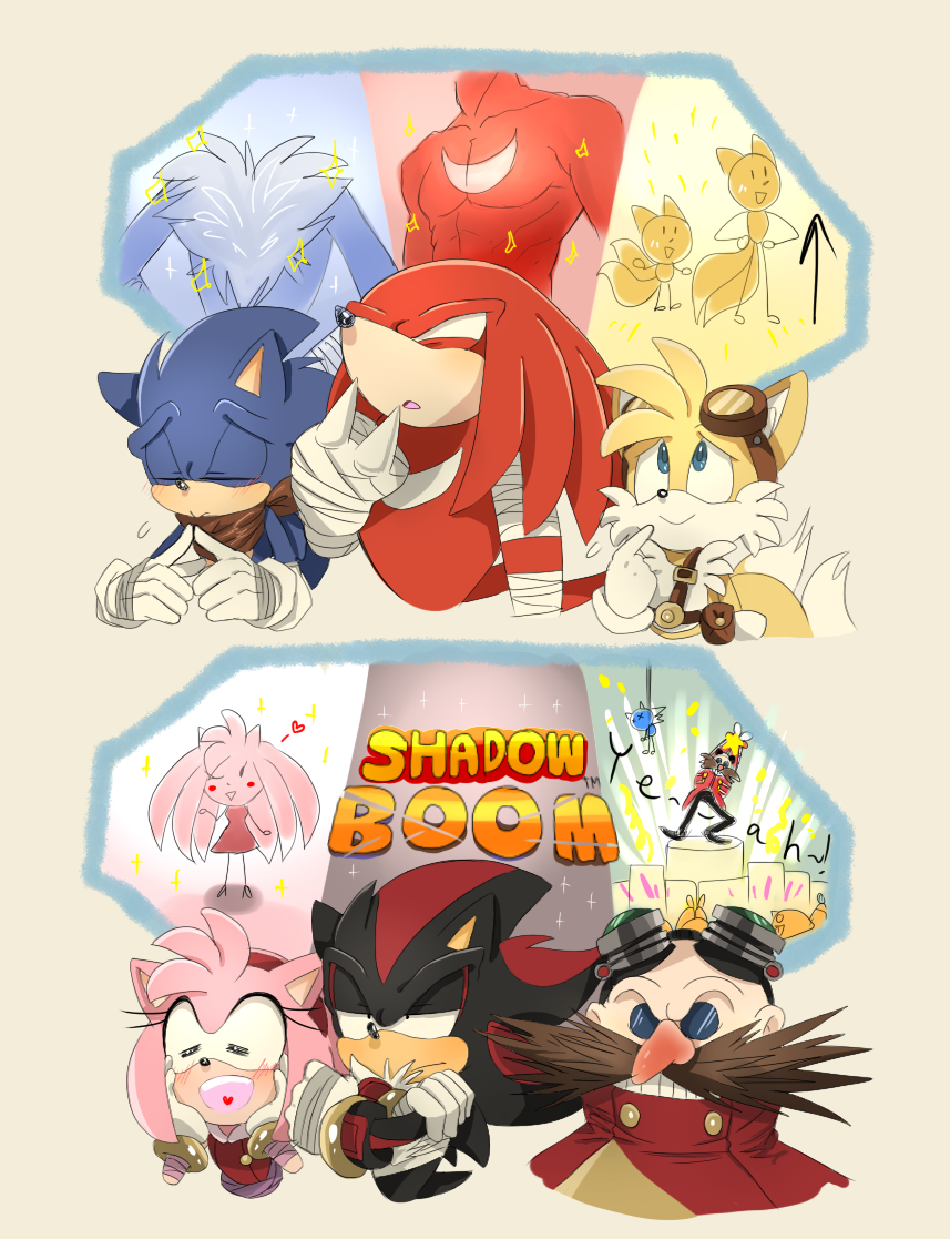 Sonic Chest Hair Knuckles Abs Tails Wants To Get Taller Amy