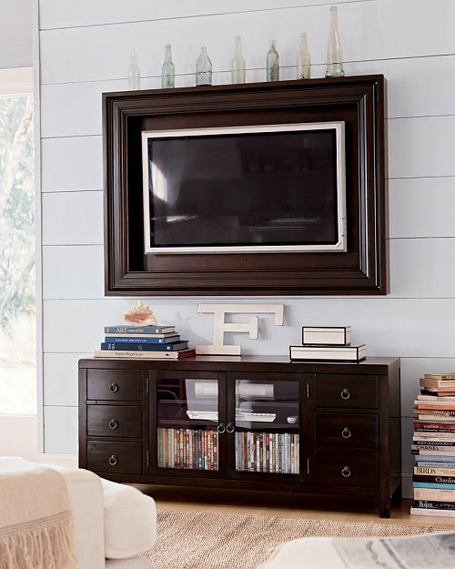 Flat screen tv in frame mount | My next big project | Pinterest ...