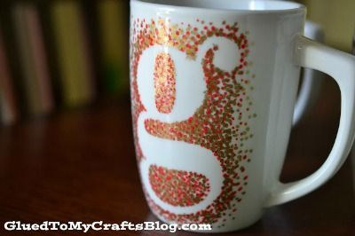 Dot+Monogram+Sharpie+Mug
