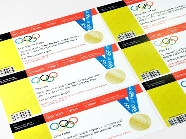 Olympic Party Invites Birthday Pinterest Olympics