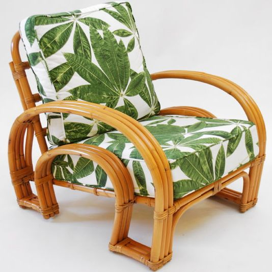 Horseshoe rattan chair from the 194039s now that i know for Seat covers for cane furniture