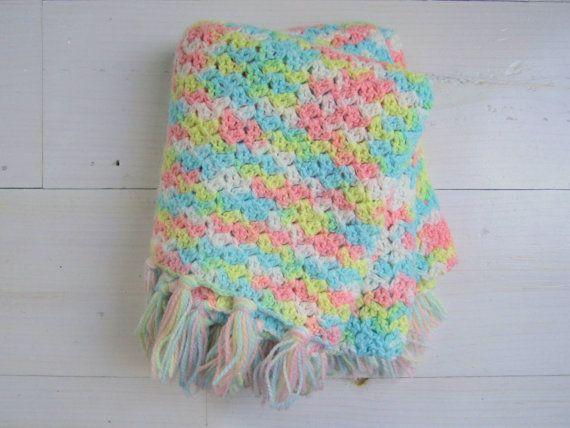 Pastel Vintage Baby Blanket. Willow Moon Vintage - Etsy.